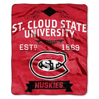 COL 670 St. Cloud State 'Label' Raschel Throw
