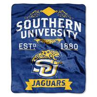 COL 670 Southern University 'Label' Raschel Throw