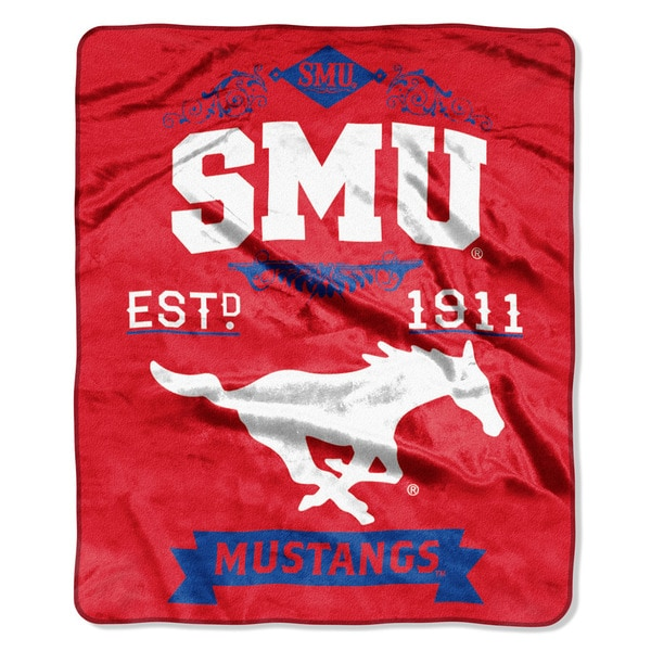 COL 670 Southern Methodist 'Label' Raschel Throw