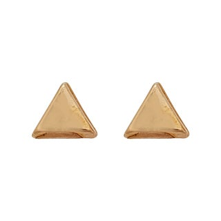 Decadence 14k Yellow Gold High-polish Triangle Hat Stud Earrings
