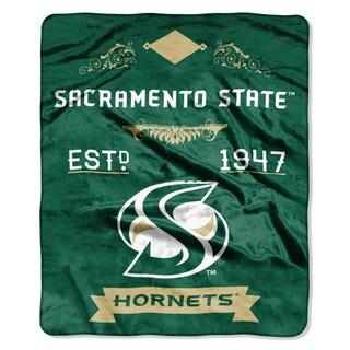 COL 670 Sacramento State 'Label' Raschel Throw