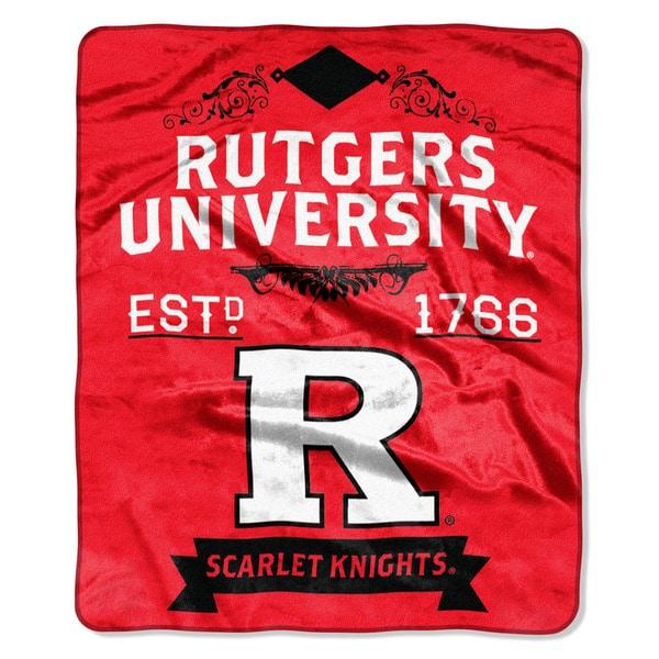 COL 670 Rutgers 'Label' Raschel Throw