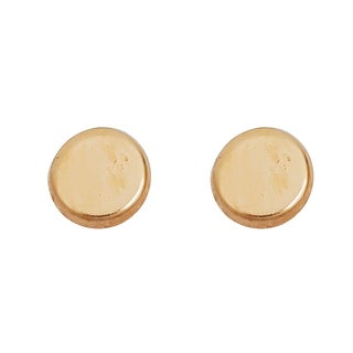 Decadence 14K Yellow Gold High-polished Circle Hat Screw-back Stud Earring