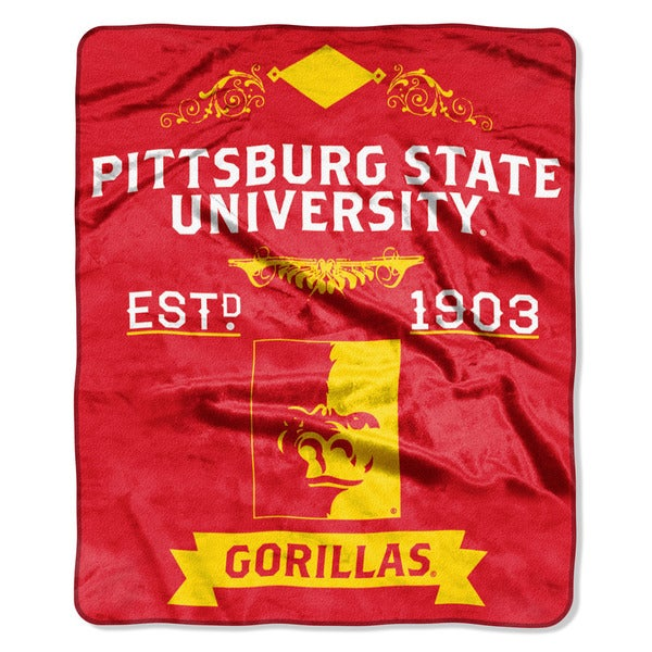 COL 670 Pittsburgh State 'Label' Raschel Throw