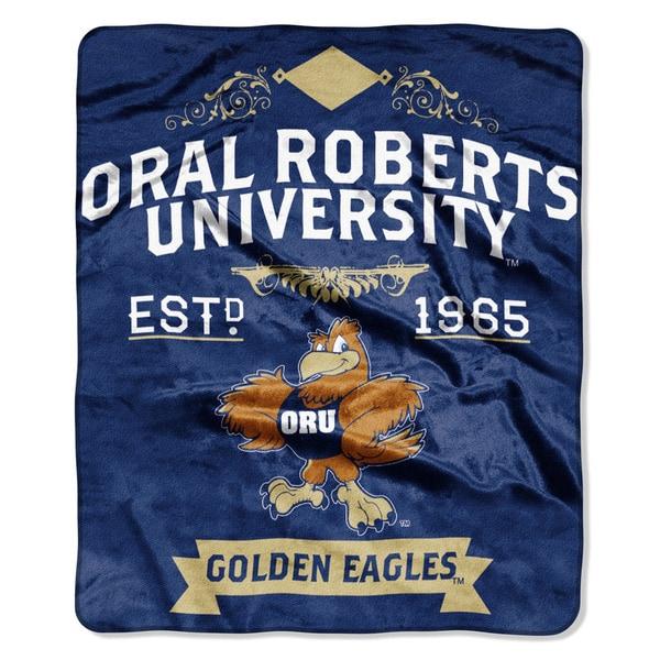 COL 670 Oral Roberts 'Label' Raschel Throw