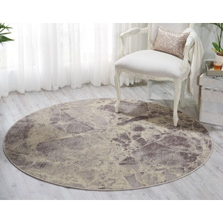 Nourison Somerset Grey Area Rug (5'6 Round)