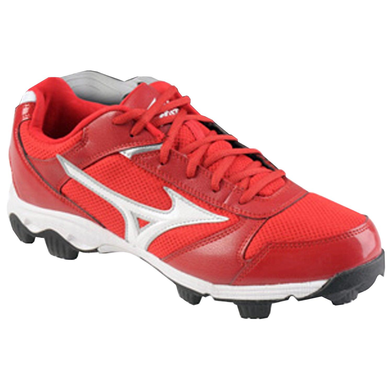 red mizuno baseball cleats