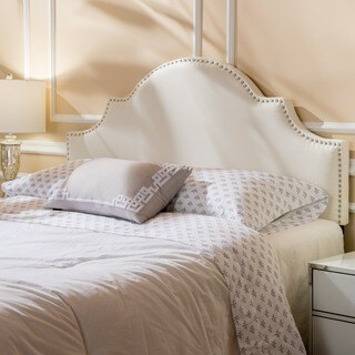 Bianca Adjustable Full/ Queen Studded Fabric Headboard by Christopher Knight Home