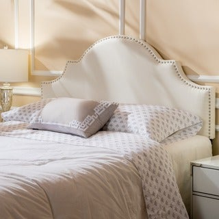 upholstered headboard queen. Bianca Adjustable Full/ Queen Studded Fabric Headboard By Christopher Knight Home Upholstered