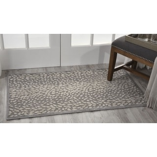 Nourison Graphic Illusions Grey Area Rug (2'6 x 4')