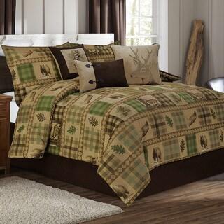 Woodland Tan and Brown 7-piece Printed Duvet Set
