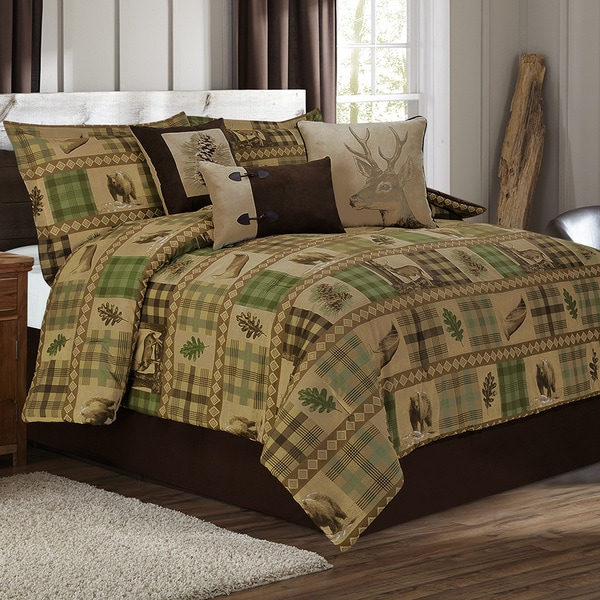 Woodland Tan and Brown 7-piece Printed Duvet Set