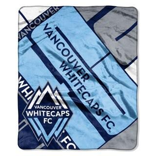 MLS 670 Vancouver Whitecaps Scramble Raschel Throw
