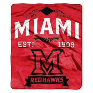 COL 670 Miami Ohio 'Label' Raschel Throw