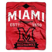 COL 670 Miami Ohio 'Label' Raschel Throw