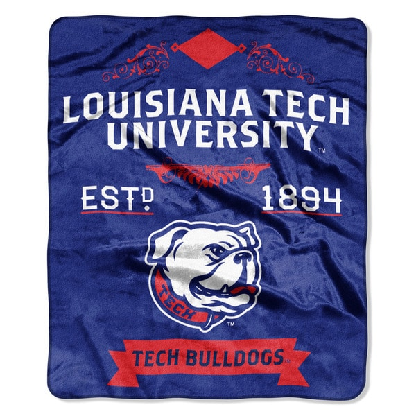 COL 670 Louisiana Tech 'Label' Raschel Throw