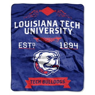 COL 670 Louisiana Tech 'Label' Raschel Throw
