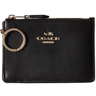 Coach Smooth Leather Mini ID Skinny - Black