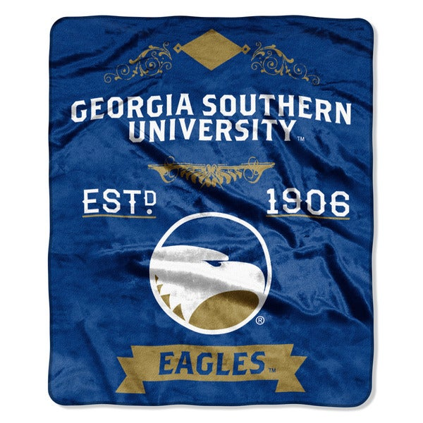 COL 670 Georgia Southern 'Label' Raschel Throw