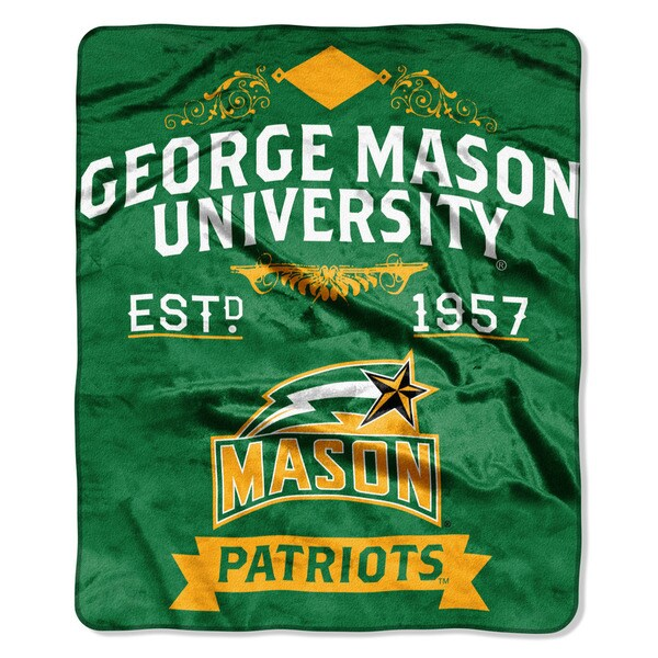 COL 670 George Mason 'Label' Raschel Throw