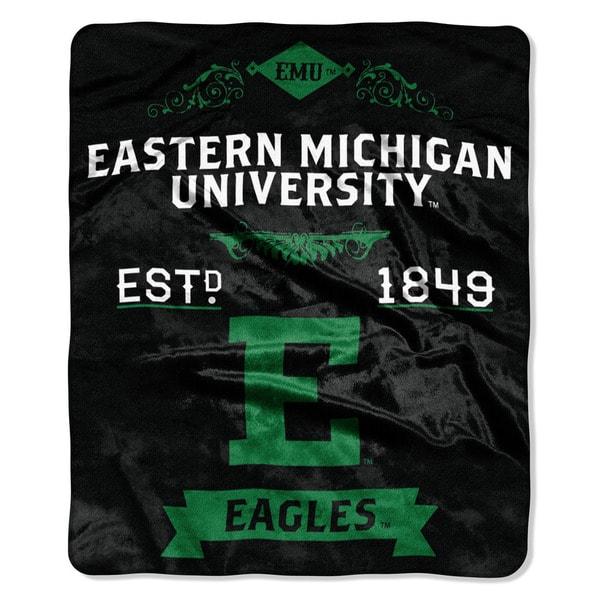 COL 670 Eastern Michigan 'Label' Raschel Throw