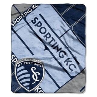 MLS 670 Sporting KC Scramble Raschel Throw