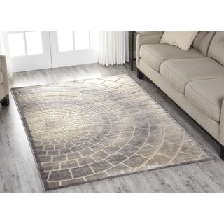 Nourison Graphic Illusions Light Multicolor Area Rug (7'9 x 9'9)