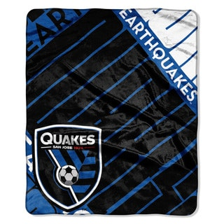 MLS 670 San Jose Earthquake Scramble Raschel Throw