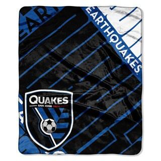MLS 670 San Jose Earthquake Scramble Raschel Throw