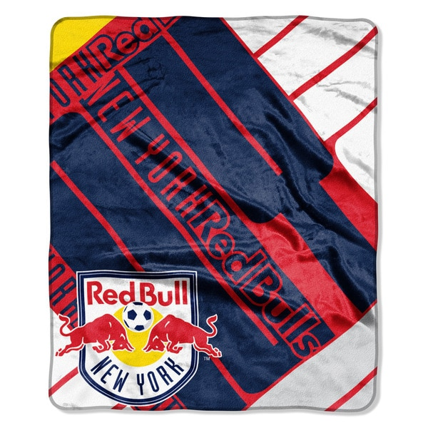 MLS 670 New York Red Bulls Scramble Raschel Throw