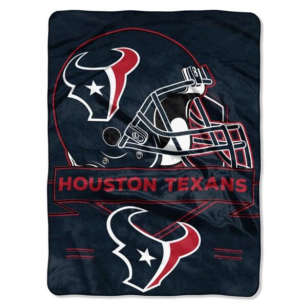 NFL 0807 Texans Prestige Raschel Throw
