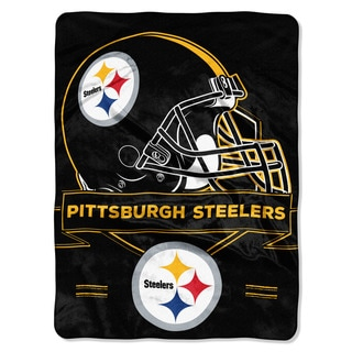 Shop Nfl 0807 Steelers Prestige Raschel Throw Free