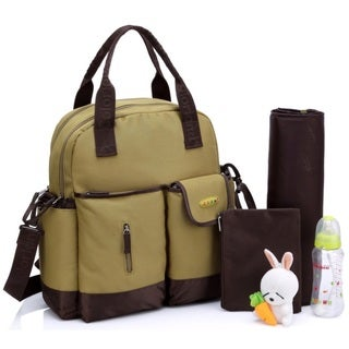 Colorland Green Multifunctional 4-Way Diaper Backpack