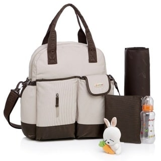 Colorland Khaki Multifunctional 4-Way Diaper Backpack