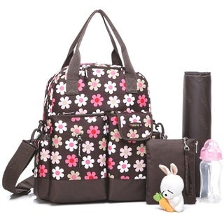Colorland French Flower Multifuntion Nappy Diaper Backpack