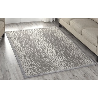 Nourison Graphic Illusions Grey Area Rug (5'3 x 7'5)