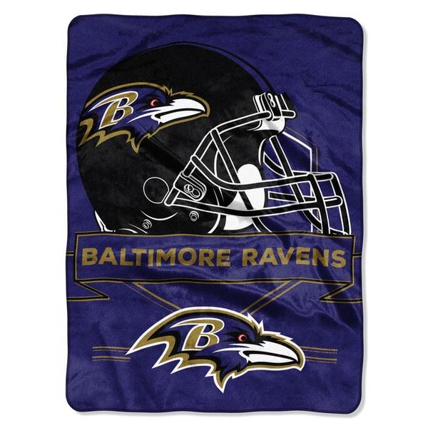 NFL 0807 Ravens Prestige Raschel Throw