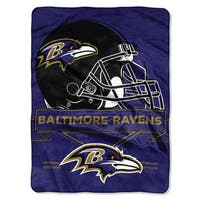 NFL 0807 Ravens Prestige Raschel Throw
