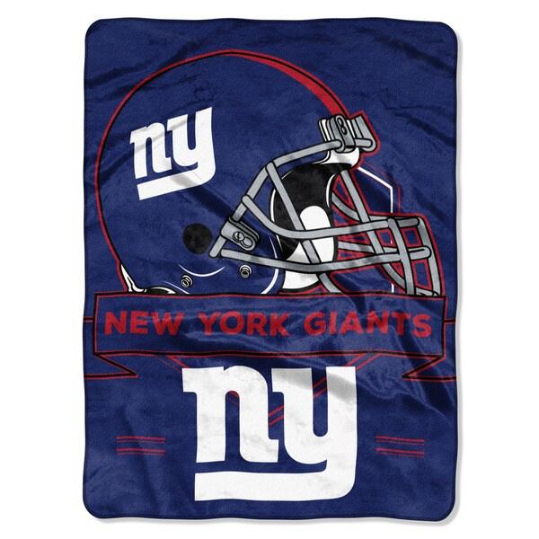 NFL 0807 NY Giants Prestige Raschel Throw