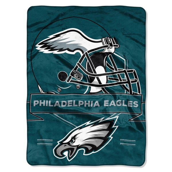 NFL 0807 Eagles Prestige Raschel Throw