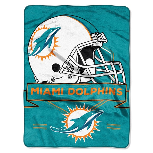 NFL 0807 Dolphins Prestige Raschel Throw