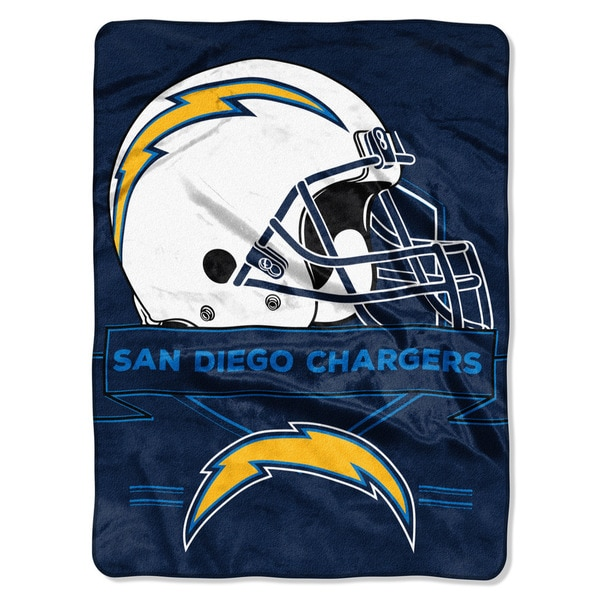 NFL 0807 Chargers Prestige Raschel Throw