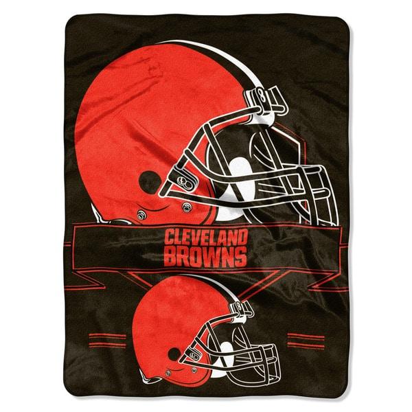 NFL 0807 Browns Prestige Raschel Throw