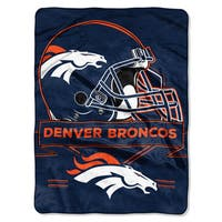 NFL 0807 Broncos Prestige Raschel Throw