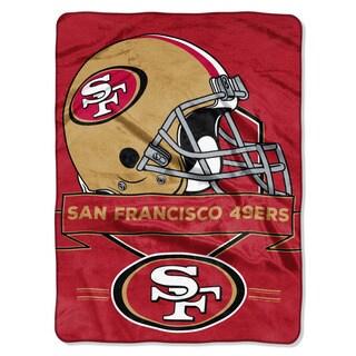NFL 0807 49ers Prestige Raschel Throw