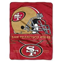 NFL 0807 49ers Prestige Raschel Throw