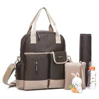 Colorland Coffee Brown Multifunction Nappy Diaper Backpack