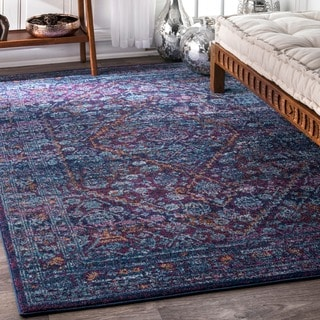 nuLOOM Persian Mamluk Diamond Purple Rug (4' x 6')