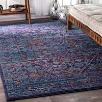 nuLOOM Persian Mamluk Diamond Purple Rug (5' x 7'5) - 5' x 7' 5