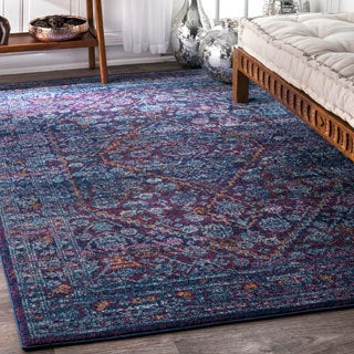 nuLOOM Persian Mamluk Diamond Purple Rug (8' x 10')